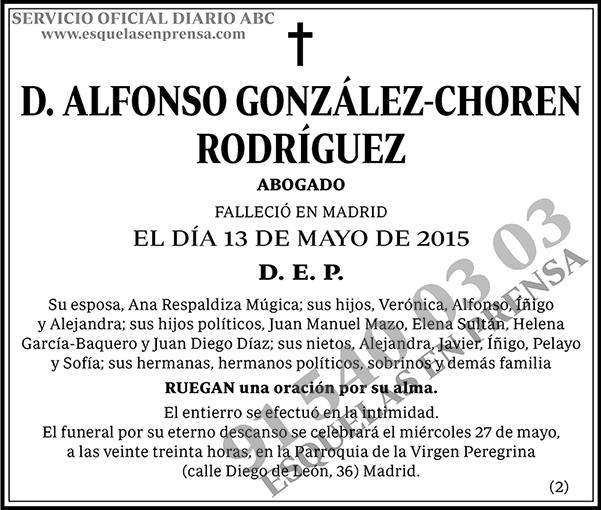 Alfonso González-Choren Rodríguez